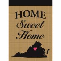 Magnolia Garden Flags M010071 Virginia Home Sweet Home Burlap Garden Flag - 1