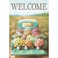 Magnolia Garden Flags M080014 13 x 18 in. Welcome Flower Truck Polyester Garden Flag - 1