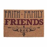 Dicksons DOORMAT-6 Faith, Family & Friends Out Door Mat, 24 x 16 in. - 1