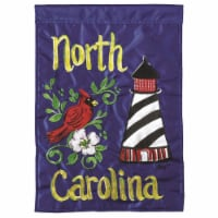 Dicksons M011006 13 x 18 in. Flag Double Applique North Carolina Polyester Garden