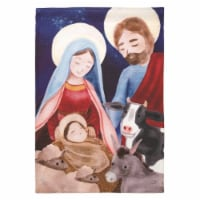 Dicksons M080028 Print Holy Family with Animals Polyester Garden Flag