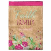 Dicksons FLAG-2054 13 x 18 in. Faith Family Friends Blap Double Applique Garden Flag - 1