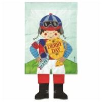 Dicksons M010126 13 x 24 in. Flag Double Applique Jockey Polyester Garden - 1