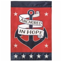 Dicksons M001095 29 x 42 in. Flag Double Applique Anchored In Hope Burlap - Large