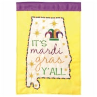 Dicksons M001102 29 x 42 in. Flag Double Applique Alabama Mardi Gras Polyester - Large - 1