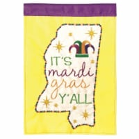 Dicksons M011104 13 x 18 in. Flag Double Applique Mississippi Mardi Gra Polyester Garden