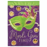 Dicksons M001099 29 x 42 in. Flag Double Applique Mardi Gras Time Polyester - Large - 1