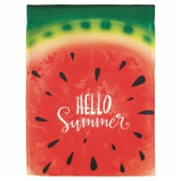 Dicksons M070080 30 x 44 in. Flag Print Hello Summer Watermelon Polyester - Large
