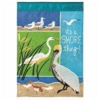 Dicksons M001125 29 x 42 in. Flag Double Applique Coastal Birds Polyester - Large