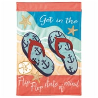 Dicksons M011129 13 x 18 in. Flag Dap Flip Flop State of Mini Flag With Pole D Polyester Grd - 1