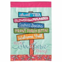 Dicksons M011147 13 x 18 in. Flag Double Applique ItS A Southern Thing Polyester Garden - 1