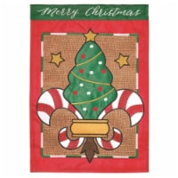 Dicksons M011166 13 x 18 in. Candy Striped Double Applique Garden Flag - 1