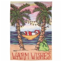 Dicksons M080090 13 x 18 in. Print Santa Warm Wishes Polyester Garden Flag