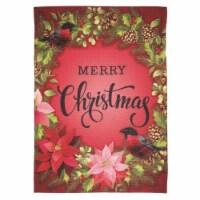 Dicksons M080093 13 x 18 in. Print Merry Christmas Birds Polyester Garden Flag