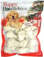 Pet Factory Happy Howlidays American Beefhide Dog Bones 12pk 4-5 - 1