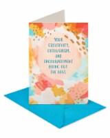 American Greetings #57 Thank You Card (Brushstroke)