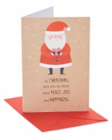 American Greetings Santa Christmas Card
