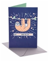 American Greetings Sloth Funny Birthday Card