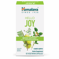 Himalaya Hello Joy Herbal Mood Support With Ashwagandha Vegetarian Capsules - 60 ct