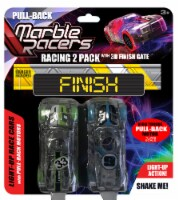 Pull-Back Marble Racer - 2 Pack - Red & Blue - Each