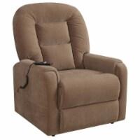 PRI Upholstered Lift Chair in Raider Mocha Brown - 1