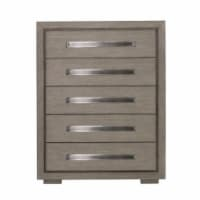 Home Fare Modern 5 Drawer Chest in Natural Taupe - 1