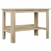 HomeFare Transitional Farmhouse Wood Desk in Natural Weathered Oak - 1