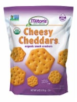 Milton's Craft Bakers Organic Cheesy Cheddar Crackers