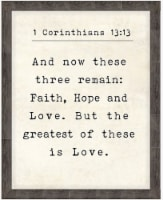 New View Corinthians 13:13 Wall Decor
