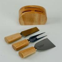 KitchenWorthy 290-4PCS 4 Piece Cheese Knife & Block Set