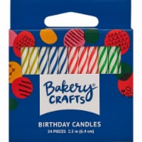 DecoPac Bakery Crafts Spiral Multi Neon Candles