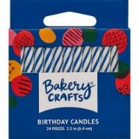 DecoPac Spiral Candles Cake Decorations - Blue