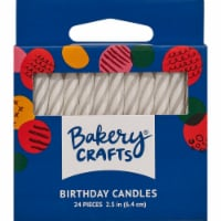 DecoPac White Spiral Cake Candles