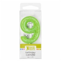 Bakery Crafts Glitter Green 9 Birthday Candle