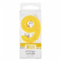 Bakery Crafts Glitter Yellow 9 Birthday Candle