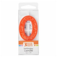 Bakery Crafts Glitter Orange 0 Birthday Candle