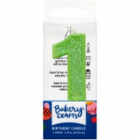 DecoPac One Birthday Candle Cake Decoration - Green - 1 ct