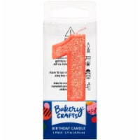 DecoPac One Birthday Candle Cake Decoration - Pink - 1 ct