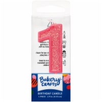 DecoPac One Birthday Candle Cake Decoration - Pink