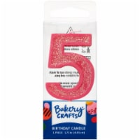 DecoPac Five Birthday Candle Cake Decoration - Pink