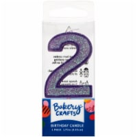 DecoPac Two Birthday Candle Cake Decoration - Purple