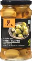 Gaea Garlic Stuffed Green Olives - 6.2 oz