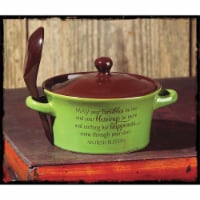 Dicksons 246255 2.5 x 5 in. 14 oz Stoneware Bowl with Handle, Green