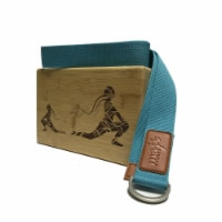 Laser Engraved Bamboo Block & Strap Combo (Turquoise) - 1
