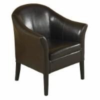 Armen Living 1404 Brown Leather Club Chair - 1