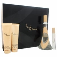Rihanna Nude 3.4oz EDP Spray, 0.34oz EDP Spray, 3oz Body Lotion, 3oz Bath & Shower Gel 4 Pc G
