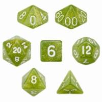 7 Die Polyhedral Dice Set in Velvet Pouch - Serpent - 1 each