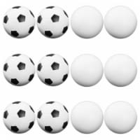 Brybelly Holdings GFOO-003 12 Mixed Foosballs, Includes 6 Soccer Style and 6 Smooth