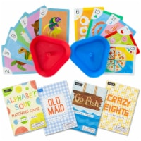 Set of 4 Classic Children's Card Games w/ 2 Cardholders