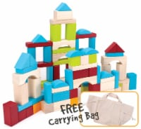 100 Piece Wooden Block Set with Carrying Bag